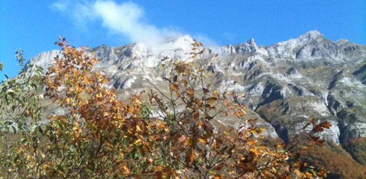 Les montagnes ossaloises en automne